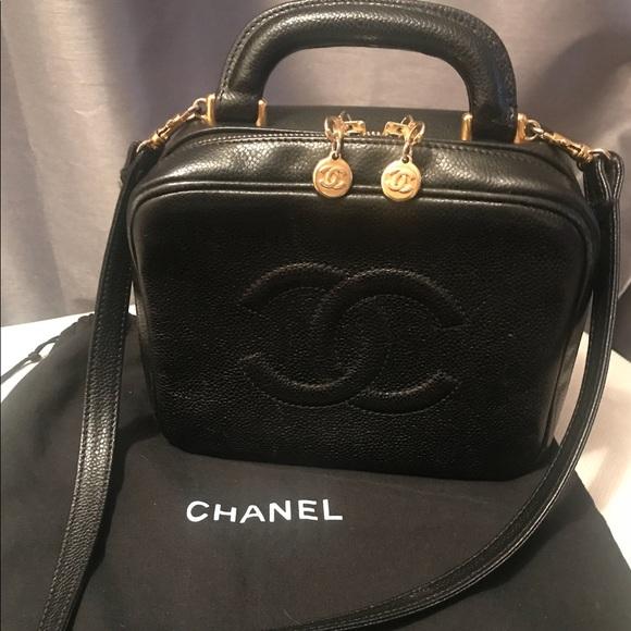 0f0e7af895a8 CHANEL Bags | Black Caviar Classic Vanity Case Bag | Poshmark